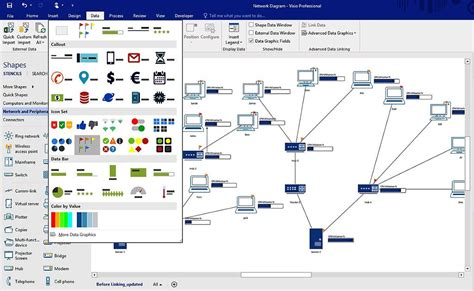 network wiring diagram visio