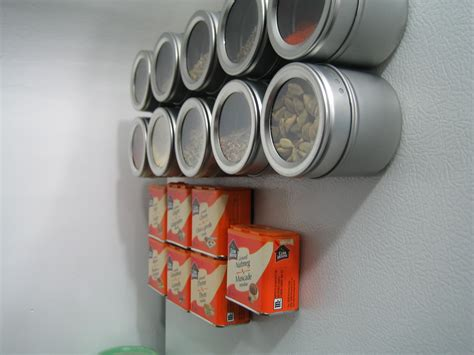 diy magnetic spice rack for refrigerator s spice rack won t snap