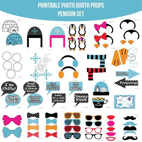 breakfast at t s printable photo booth props 72 best penguin party images on pinterest penguin party