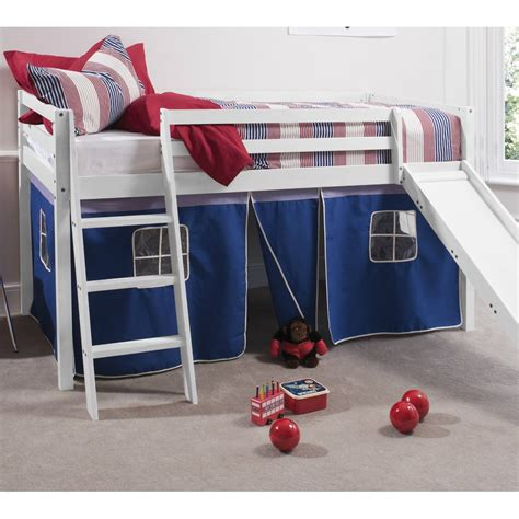 bed with slide and tent cabin bed midsleeper with slide