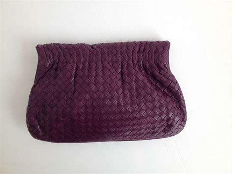 Clutch Bottega Line Brown bottega veneta plum woven envelope clutch at 1stdibs