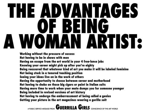 art of being a brooklyn museum elizabeth a sackler center for feminist art the advantages of being a woman
