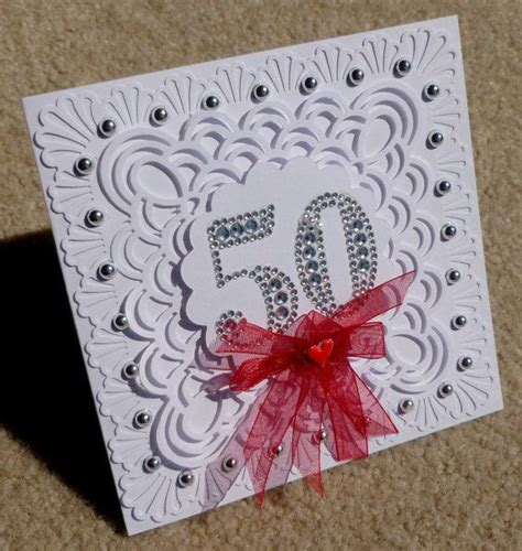 Handmade 50th Birthday Cards - 50th birthday handmade 3d greeting card for or