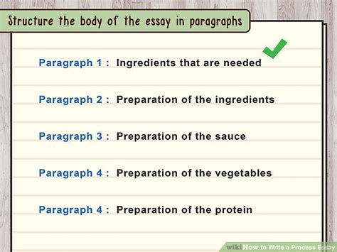 Steps Of Writing Essay by How To Write A Process Essay 15 Steps With Pictures Wikihow