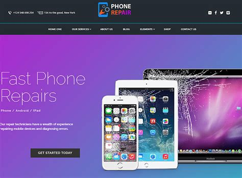computer mobile themes best computer and phone repair shop themes for wordpress 2017