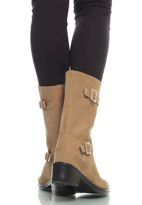 Cat Sepatu Bahan Leather sepatu boots kulit khaki genuine suede