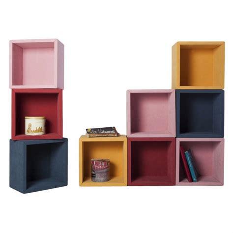 mensole arredo design fabric set di 9 mensole cubi per arredo da parete 30 x 30 cm