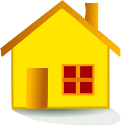 yellow house clip art  clkercom vector clip art