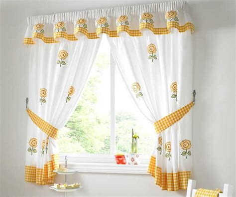 kitchen curtains ideas modern white and yellow modern kitchen curtains home interiors