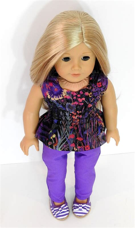 Handmade Doll Clothes For 18 Inch Dolls - trendy 18 inch doll clothes handmade peplum top and purple