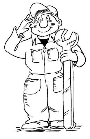 mechanic coloring page supercoloring com