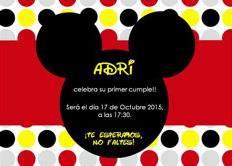 imagenes cumpleaños de mickey mouse invitaciones de cumplea 241 os de mickey mouse hecho para peques