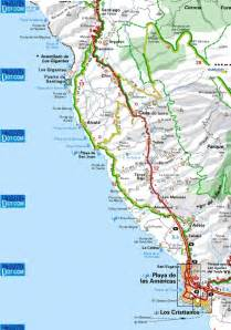 map of coast maps to the local area los gigantes santiago and