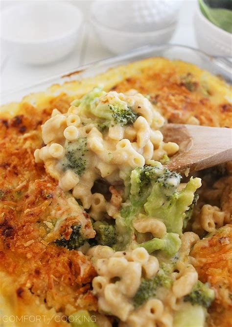 the comfort of cooking skinny baked broccoli macaroni and cheese recipe dishmaps