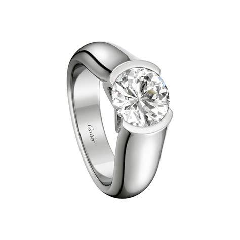 Cartier Engagement Rings by C De Cartier Solitaire Engagement Rings Platinum