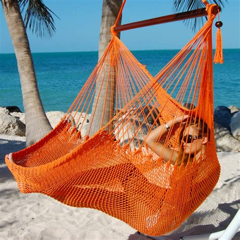 caribbean hammocks chair large orange by the caribbean