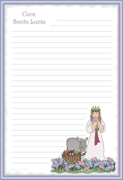 lettere santa lucia lettere a babbo natale da stare e compilare 1 15