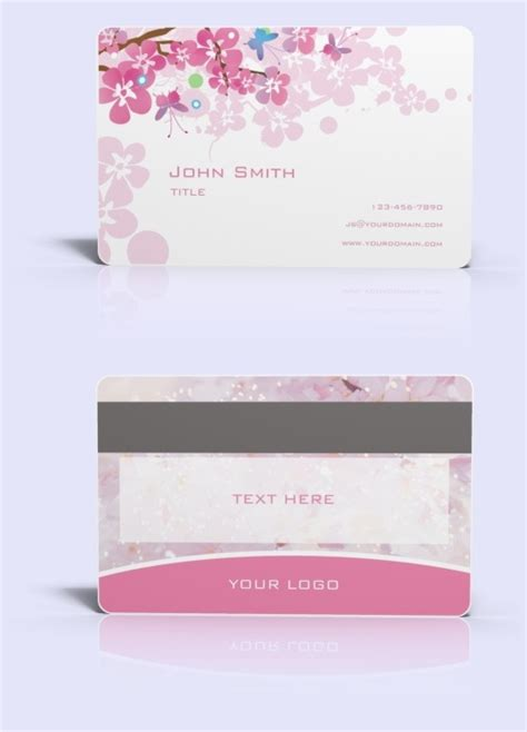 plastic card template free ready made plastic card template