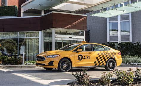 ford fusion hybrid taxi borrows parts  police car   axles