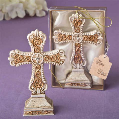 Antique Ivory Cross Statue   FREE Custom Tags