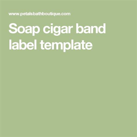 cigar band template 670 best images about handmade soap on coconut