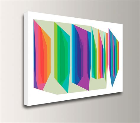 colorful canvas mid century modern colorful canvas print bright rainbow