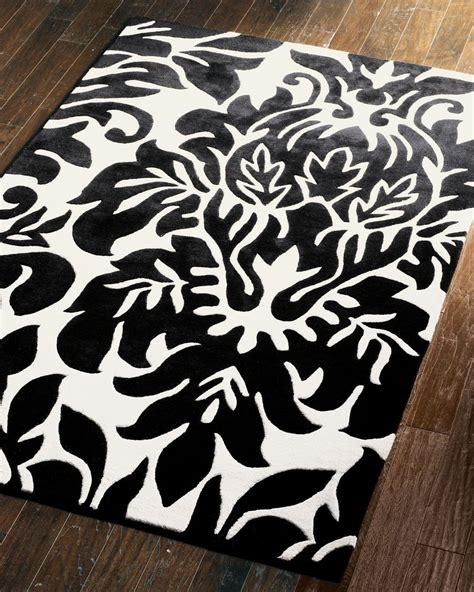 black damask rug quot large damask quot rug horchow from horchow for my new mansion