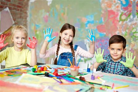 Kids Painting Picture Creative Yet Easy Finger And Thumb Painting Ideas For Kids Cute Colouring Children Painting Images