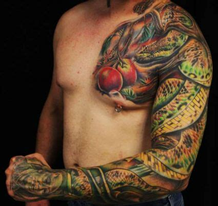 colour sleeve tattoo designs sleeve snake colors amazing
