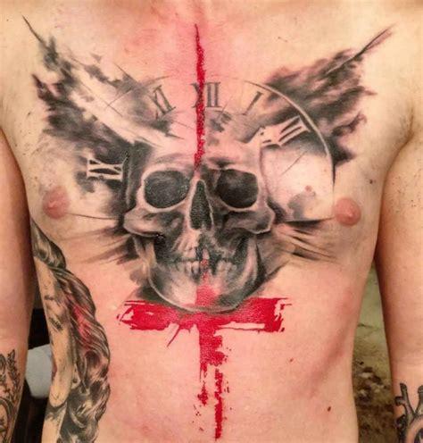 chest tattoo trash polka chest skull trash polka tattoo best tattoo ideas gallery