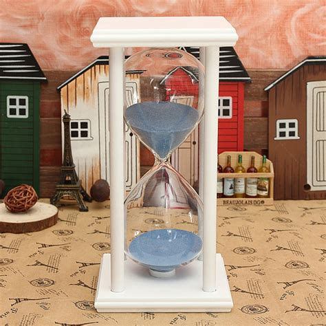 Hourglass Home Decor by 60 Minutes Wooden Frame Sandglass Hourglass Sand Timer
