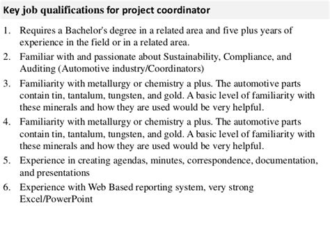 project coordinator description project coordinator description