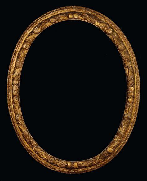 cornice ovale grande cornice ovale in legno intagliato e dorato xvii