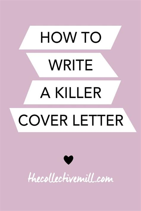 writing a killer cover letter cover letters letters and purpose on