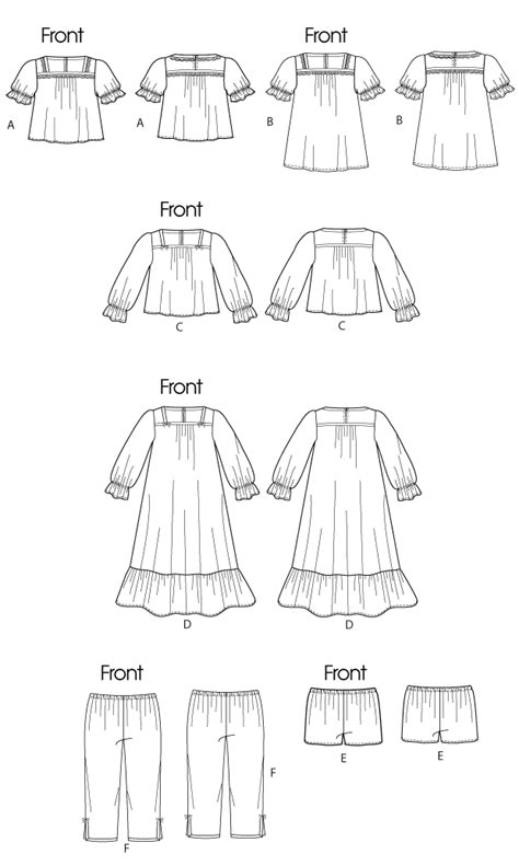 pattern review template mccall s 6459 children s girls tops gowns shorts and pants