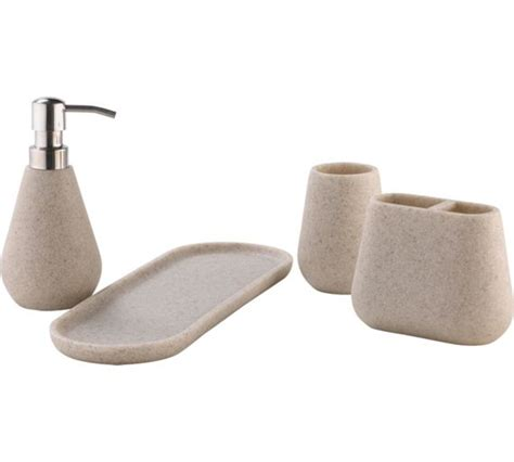 heart bathroom accessories buy heart of house bathroom sandstone set at argos co uk