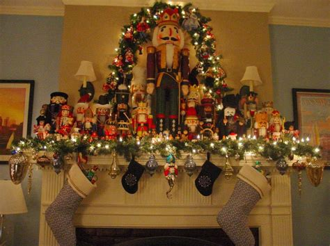 image of christmas mantle with nutcracker mantle with nutcrackers the most wonderful time of the year mantels mantles