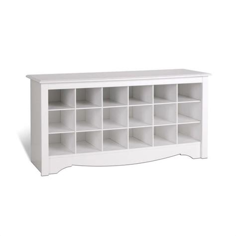 white shoe rack bench prepac white storage cubbie bench shoe rack