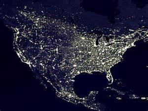 united states light map nasa bright lights big cities