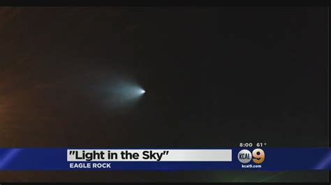 Bright Light In Western Sky by Residents In Western States Report Seeing Strange Light In Sky