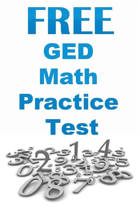 printable ged practice test math practices and maths on pinterest
