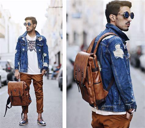 Fashion Bag Warna Coklat Gc 542 mohcine aoki hi korean fashion blue vintage distressed denim jackets selva necklaces