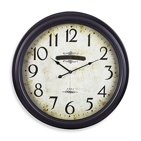 bed bath beyond clocks chateau wall clock bed bath beyond