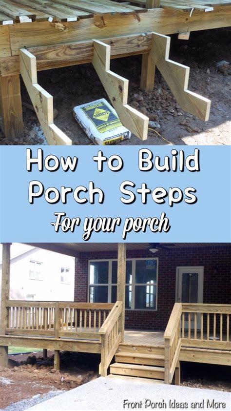 build steps building  porch   build porch