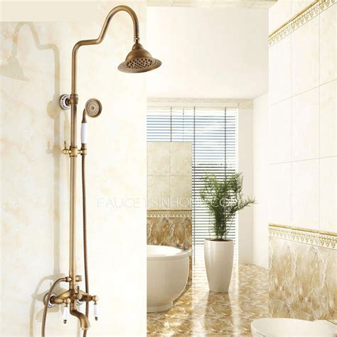 Luxury Shower Fixtures by Luxury Antique Brass Ceramic Outdoor Shower Faucets System