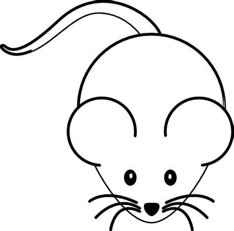 mouse clipart black and white mouse clip at clker vector clip