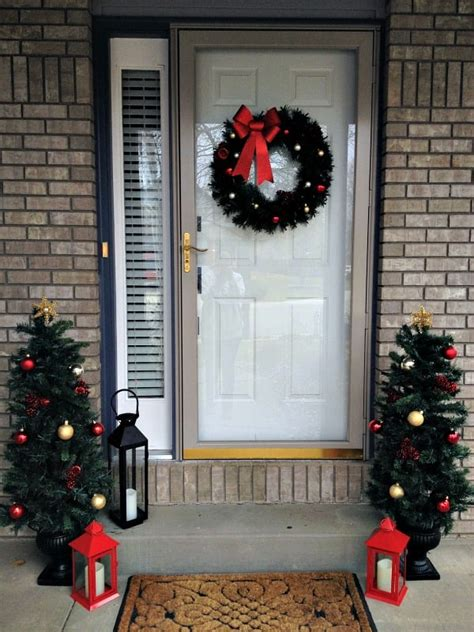 front door decor christmas easy decorating inspiration for