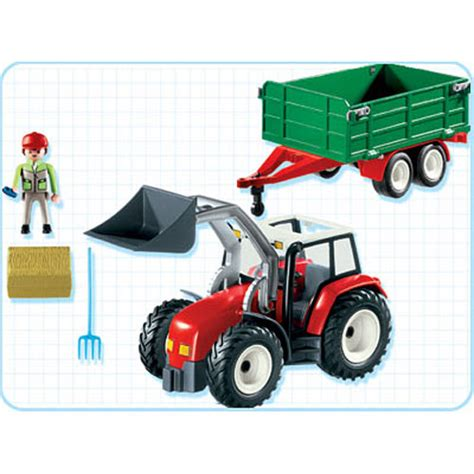 Playmobil Tractor tractor with hay trailer 4496 playmobil another great from werks