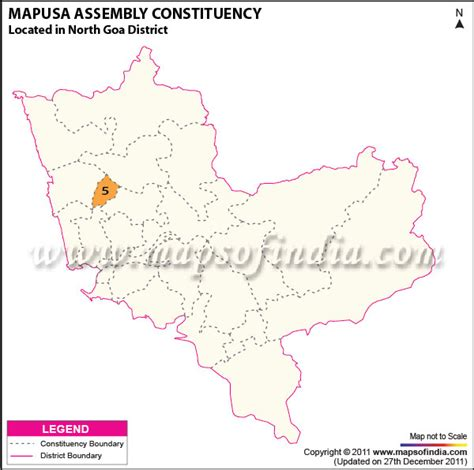mapusa goa map mapusa assembly constituency map mapusa election 2017 results