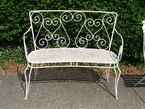 wrought iron garden bench g088 s vintage french wrought iron garden bench